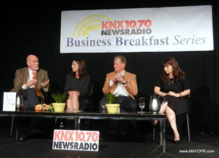 image of panel at KNX BUSINESS BREAKFAST SERIES